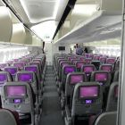Wandering through the business class section to the Economy class cabin you are immediately struck by the feeling of space, light and luxury