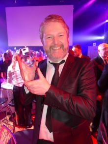Travelbiz win Best Travel Trade Media Award.  Shane Cullen (Travelbiz)