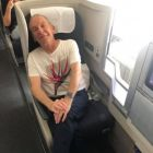 Greg Evans (PHLCVB) en route to Philadelphia business class style with British Airways.