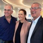 Paul Hacket (Click&Go;) Jenny Rafter  (Aer Lingus) and David Hennessy (Tropical Sky) at 51st and Green Dublin Airport.