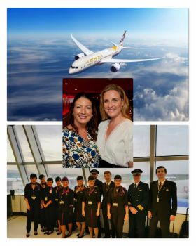 Karen and Shannon Etihad Airlines Ireland