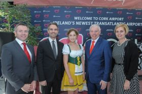 Darragh Hanratty (Head Aviation Marketing Cork Airport), Andreas Koester (Lufthansa Group Senior Director Sales UK, Ireland & Iceland, Niall MacCarthy (MD Cork Airport) and Helen Fyfe, Key (Swiss Key Account Manager Ireland)