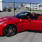 Don Shearer (Travelbiz) about to get away in the Ferrari California.