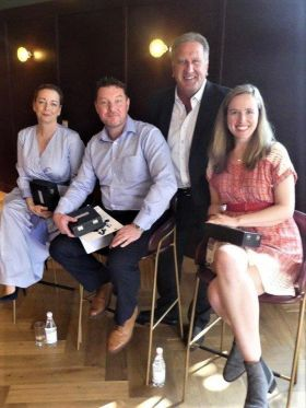 Don Shearer with Martina Coogan, Tony Lane and Nicola Brady