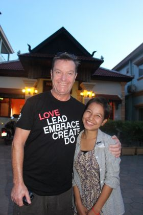 John Grehan (Ireland Manager G Adventures) 'Little Girl' (as she is affectionately known) from New Hope Cambodia