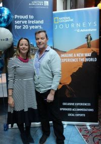 Martina Coogan (Country Sales Manager Ireland & NI United Airlines) and John Grehan (Global Purpose Specialist G Adventures)