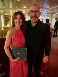 Valerie Murphy winning Celebrity Cruises Global Conference Rookie of the Year
