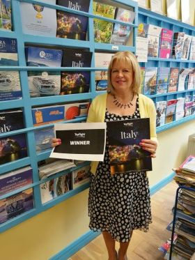 Anna May Gannon (East West Travel) won a holiday to the Fattoria Castiglionchio in the Tuscan countryside