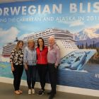 Grace Collins (Marble City Travel), Carol Anne O'Neill (Worldchoice), Caroline O'Toole (Fahy Travel) and Declan Mescall (Features Editor Travelbiz).