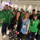 Karen and Shannon with the Irish Special Olympics team in Dublin.