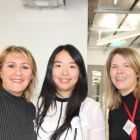 Anne Davis (Abbey Travel), Qi Lou and Caroline O'Brien (both Club Travel)