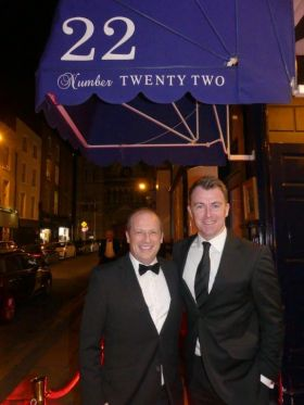 Ivan and Dermot outside Number 22