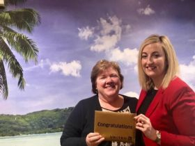 Anne Kane with Aoife Gregg (United Airlines Account Manager Leisure Sales Ireland)