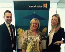 Thomas McNally (Bedsonline), Carol Anne O'Neill (Worldchoice) and Holly Best (Virgin)