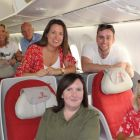 On Cloud Nine on Ethiopian Airlines! Michelle Lyons (Fahy Travel), Alan Lynch (Travel Escapes), Isabel Russell (Freedom Travel), Lorcan Keegan (Ethiopian Airlines), Lorraine Connolly (Kanes Travel) and Jacinta Mc Glynn (Travelbiz)