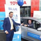Ian Gamble (Toyota Sandyford) with Ciarán Mulligan (Blue Insurance)