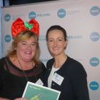 Amanda Middler (Silversea Cruises) wins the Aer Lingus prize with Jenny Rafter McCann (Aer Lingus)