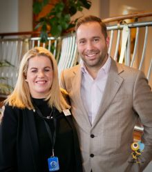 Tony Roberts with Rebecca Kelly (both from Princess Cruises)