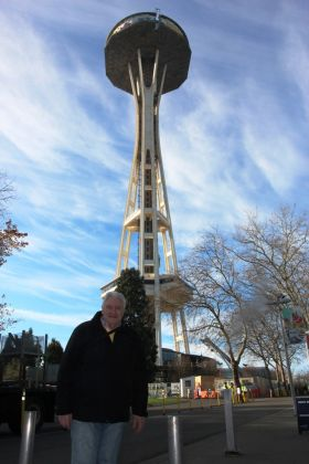 Gerry Benson (Travelbiz) at the Space Needle.