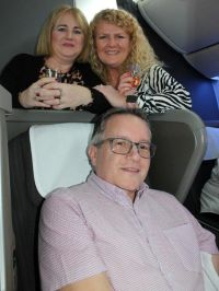 Tara Magee (British Airways), Fiona Dobbyn (Classic Resorts) and Graham Brooks (Hard Rock Hotels).