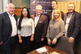 David O'Grady (eTravel) Qi Luo (Club Travel) Paul Nolan (APG) Nick Newman (China Southern) Helen O'Flaherty (WTC) and Jeff Collins (Best4Travel)