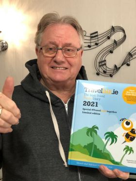 Tom Maher (The Travel Industry Cruise King) said getting his all new Travelbiz Desktop Diary was music to his ears