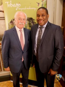 John Spollen (ITAA President) and Louis Lewis (CEO Tobago Tourism Agency)
