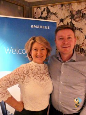 Olwen McKinney (Account Manager Amadeus) with Dave O'Hagan (MD Donabate Travel)