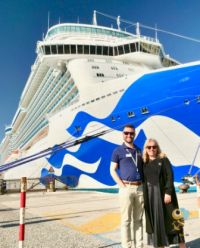 Rebecca Kelly with Mark Lowman (Princess Cruises)