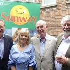 Jim Vaughan (JustSplit.Com), Deirdre Sweeney (Sunway), Richard Cullen (Killiney Travel) and Dominic Burke (Travel Centres)