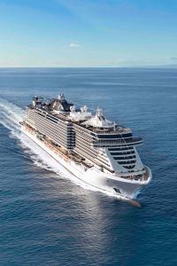 MSC out at sea