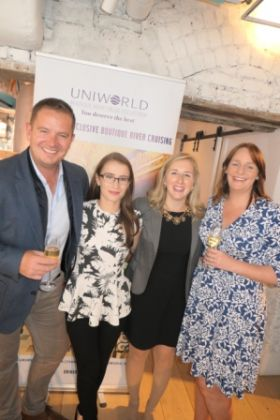 The award winning Uniworld TTC team in Ireland