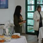 Our guide Dena Markidou explaining the traditional recipes at the cooking class.