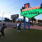 Welcome to Fabulous Las Vegas' sign goes green in honour of St. Patrick's Day