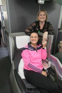 Tara Magee (British Airways) and Nadine Farrelly (Travel Counsellors) on the B787 Dreamliner business class to Calgary