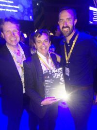 The Shannon Airport Team pick up the award