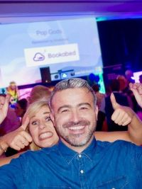 Michelle Ryan (Royal Caribbean International) and Lee Osborne (Bookabed)