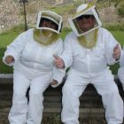 Beekeepers Aileen Eglington (AE Consulting/Cyprus Tourism Organisation) and Paul Nolan (APG Ireland/Cobalt Air)
