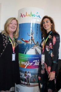 Kathryn Mc Donnell (Spanish Tourist Office) and Cristina Fuentes (Junta de Andalucia)
