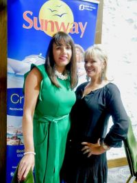 Jean Cusack (Icon Travel) with sponsor Deirdre Sweeney (Sunway Holidays)
