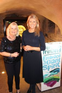 Travelbiz archived pic pre COVID -19 Featuring Travelbiz Reporter Jacinta Mc Glynn and Fiona Cunningham (Northern Ireland Tourism)