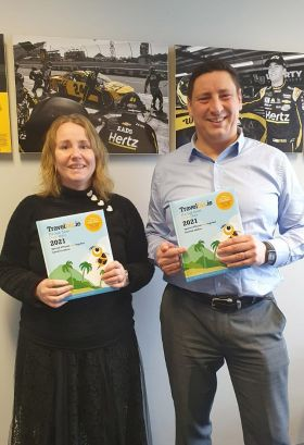 Paul and Noeleen love the all new Travelbiz Desktop 2021 Diary