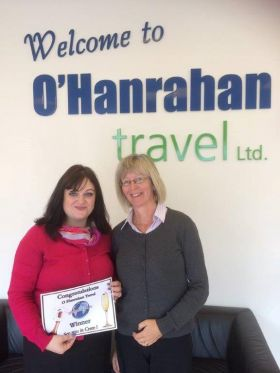 Audrey Headon with O'Hanrahan Travel
