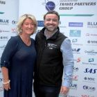 Olwen Mc Kinney (Amadeus) and Lee Osborne (Bookabed) showing of the all new TPG Partners banner