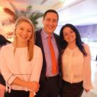 Holly Best (Virgin Atlantic) Paul Manning (Hertz) and Mary King (Travelsavers)