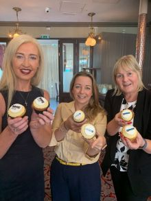 Having their cake and eating it! Tryphavana Cross (NYC & Company), Martina Migliarina (United Airlines) and Jennifer Callister (RCI)