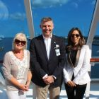 Jacinta Mc Glynn (Travelbiz), Richard Twynam (Managing Director UK & Ireland Azamara Cruise Club) and  Karen Sequiera (Head of PR & Marketing UK & Ireland)