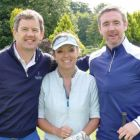 The best putters in the Travel Industry, Philip and Tanya Airey (Sunway Holidays) with Ian Kennedy (Blue Insurance)