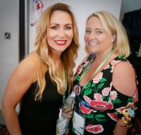 Michaela Grey (SeaWorld Parks & Entertainment) with Coleen Butler (BookABed)