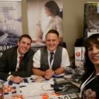 Jean Cusack (Icon Travel) gets the latest information from Onur and Sean (Turkish Airlines).